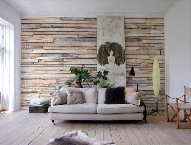 Cool & cozy - Photomurals with wood and stone motifs 5