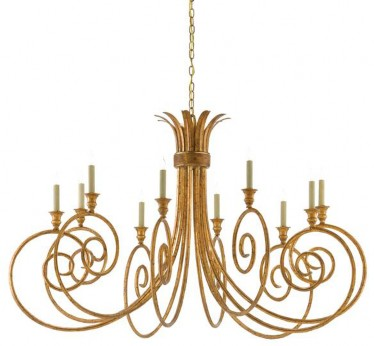 Eyelash Chandelier - The Phyllis Morris Collection by Currey & Co. Credit - Currey & Co.