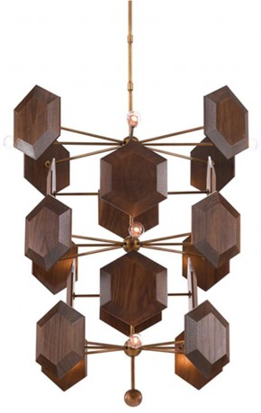 Honeycomb Chandelier - Bijoux Bois - The Jamie Beckwith Collection by Currey & Co. - Credit - Currey & Co.